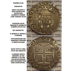 Moeda Exemplo Variante tostão D. Sebastião I código A.G 50.05