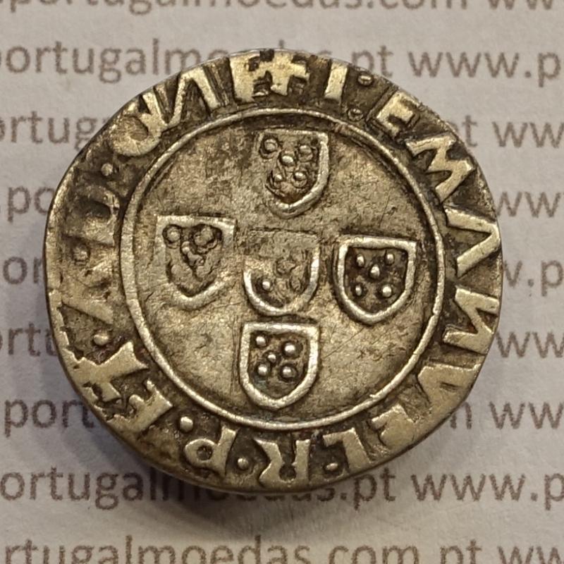 MOEDA MEIO TOSTÃO PRATA (1495 A 1521) D. MANUEL I