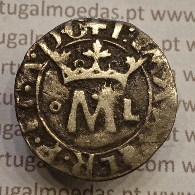 MOEDA VINTÉM ( 20 REAIS ) PRATA 1495-1521 - D. MANUEL I - ....A.D.G / ....D.G