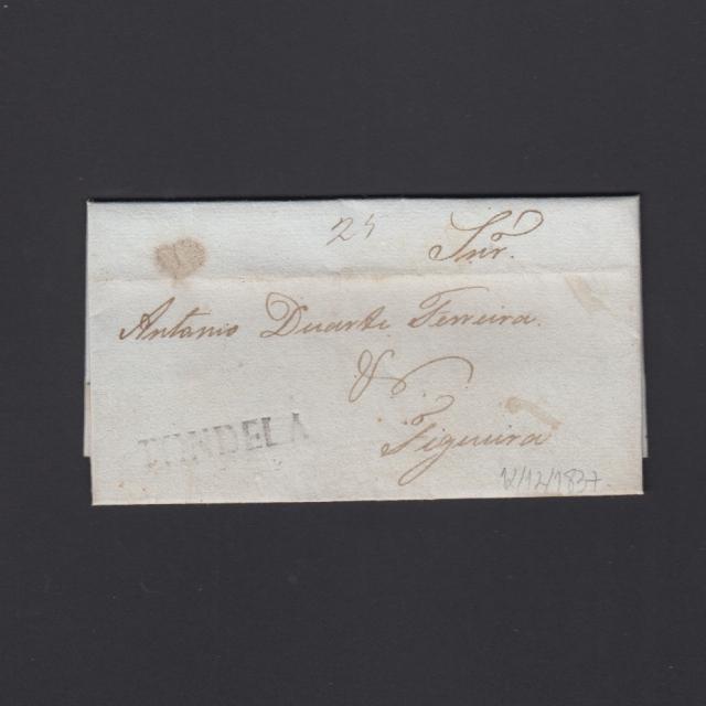 Pré-Filatélica circulada de Tondela para Figueira datada 12-12-1837
