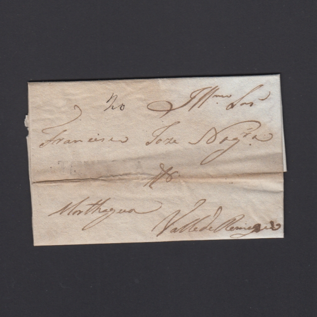 Pré-Filatélica circulada de Tondela para Vale de Remigio datada 11-04-1840