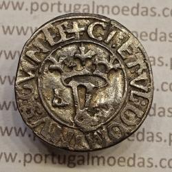 MOEDA DE REAL OU VINTÉM PRATA (1481 A 1495) D. JOÃO II - CI:ET:VL.... / CI:ETVL.. VARIANTE NÃO CLASSIFICADA