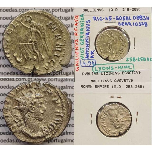 GALLIENUS - ANTONINIANO - GALLIENVS PF AVG / VICT GERMANICA (258-259 d.C) (253 d.C A 268 d.C