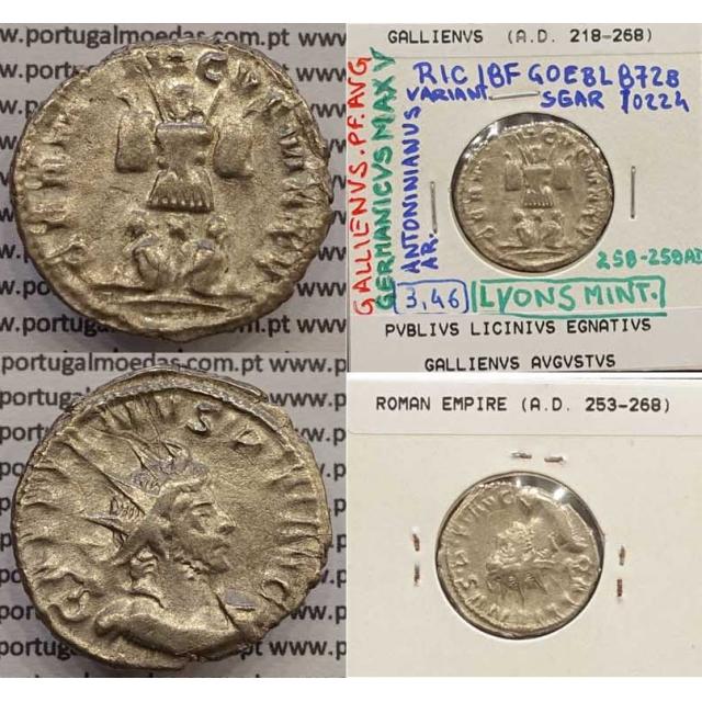 GALLIENUS - ANTONINIANO - GALLIENVS PF AVG / GERMANICVS MAX V (258-259 d.C) (253 d.C A 268 d.C )