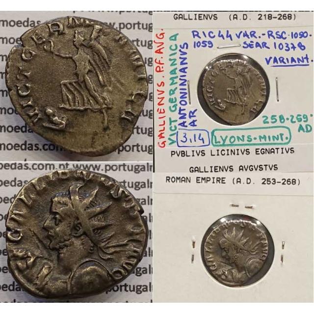 GALLIENUS - ANTONINIANO - GALLIENVS PF AVG / VICT GERMANICA (258-259 d.C) (253 d.C A 268 d.C )
