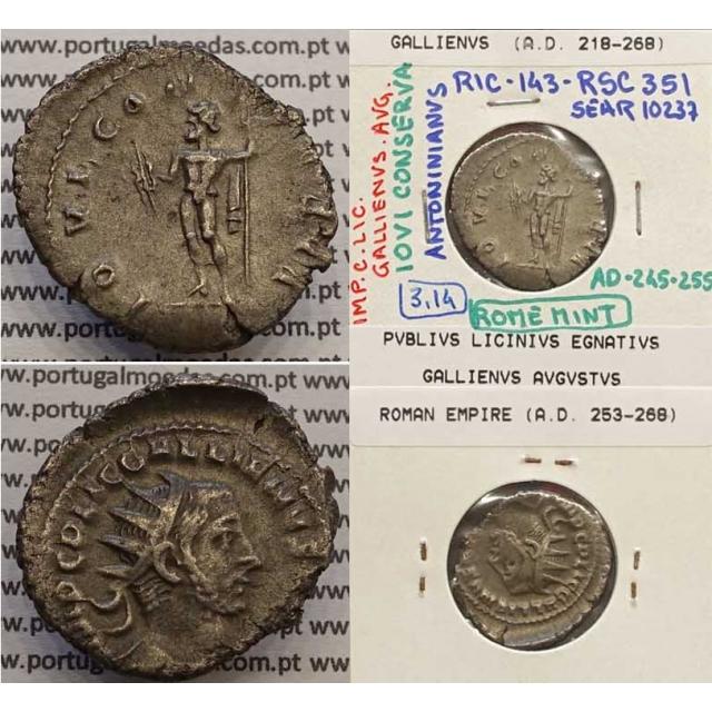 GALLIENUS - ANTONINIANO AR - IMP C LIC GALLIENVS AVG / IOVI CONSERVA (245-255 d.C) (253 d.C A 268 d.C
