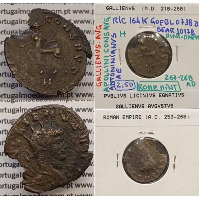 GALLIENUS - ANTONINIANO - GALLIENVS AVG / APOLLINI CONS AVG (267-268 d.C) (253 d.C A 268 d.C )