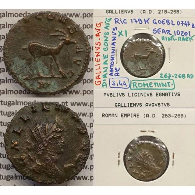 GALLIENUS - ANTONINIANO - GALLIENVS AVG / DIANAE CONS AVG (267-268 d.C) (253 d.C A 268 d.C