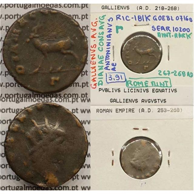 GALLIENUS - ANTONINIANO - GALLIENVS AVG / DIANAE CONS AVG (267-268 d.C) (253 d.C A 268 d.C )