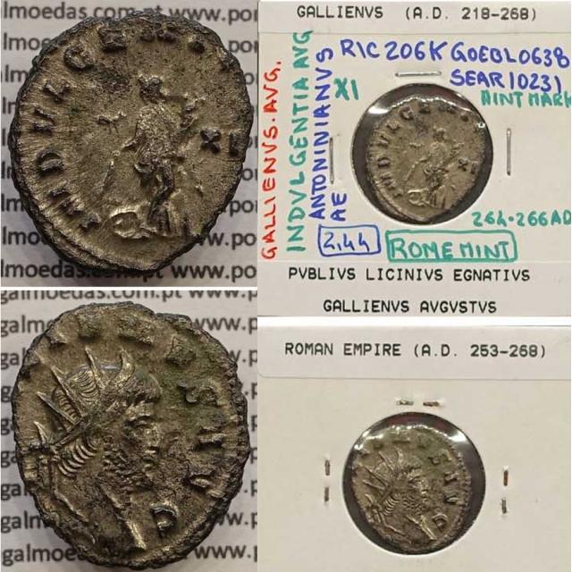 GALLIENUS - ANTONINIANO - GALLIENVS AVG / INDVLGENTIA AVG (264-266 d.C) (253 d.C A 268 d.C )