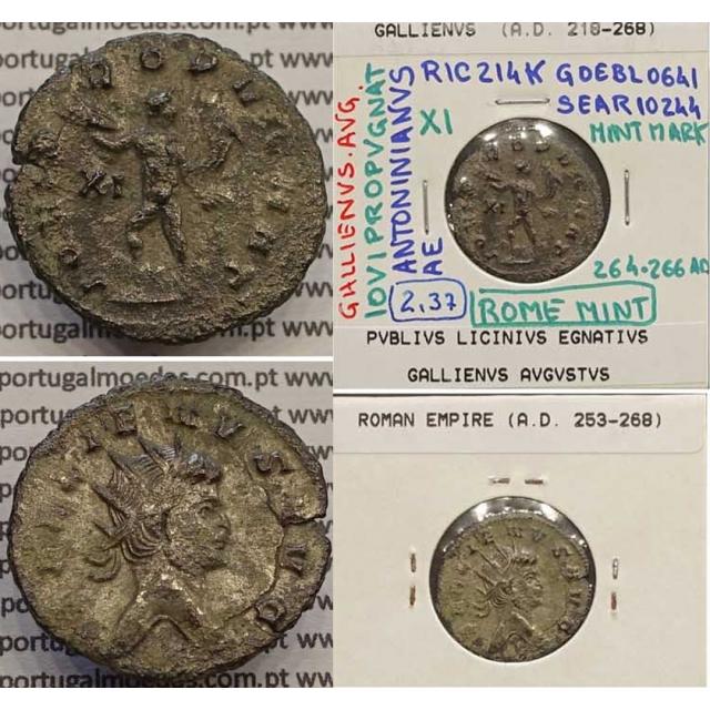 GALLIENUS - ANTONINIANO - GALLIENVS AVG / IOVI PROPVGNAT (264-266 d.C) (253 d.C A 268 d.C