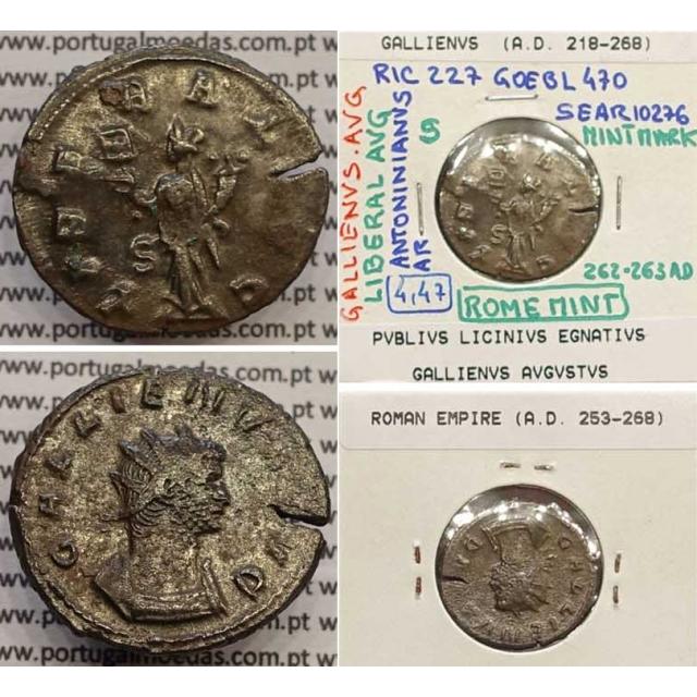 GALLIENUS - ANTONINIANO - GALLIENVS AVG / LIBERAL AVG (262-263 d.C) (253 d.C A 268 d.C