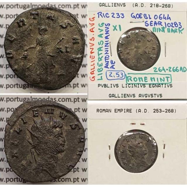 GALLIENUS - ANTONINIANO - GALLIENVS AVG / LIBERTAS AVG (264-266 d.C) (253 d.C A 268 d.C