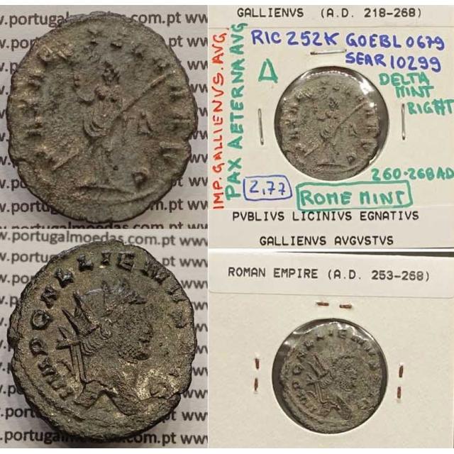 GALLIENUS - ANTONINIANO - IMP GALLIENVS AVG / PAX AETERNA AVG (260-268 d.C) (253 d.C A 268 d.C )