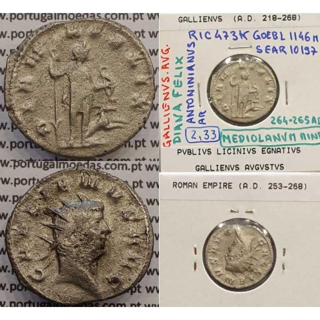 GALLIENUS - ANTONINIANO - GALLIENVS AVG / DIANA FELIX (264-265 d.C) (253 d.C A 268 d.C