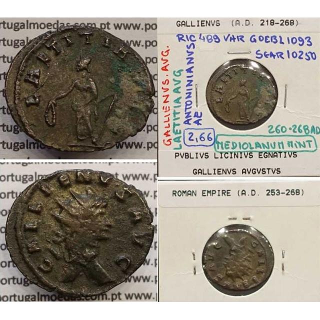 GALLIENUS - ANTONINIANO - GALLIENVS AVG / LAETITIA AVG (260-268 d.C) (253 d.C A 268 d.C