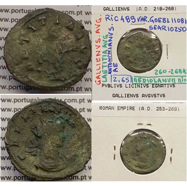 GALLIENUS - ANTONINIANO - GALLIENVS AVG / LAETITIA AVG (260-268 d.C) (253 d.C A 268 d.C )