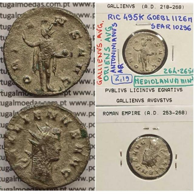 GALLIENUS - ANTONINIANO - GALLIENVS AVG / ORIENS AVG (264-265 d.C) (253 d.C A 268 d.C