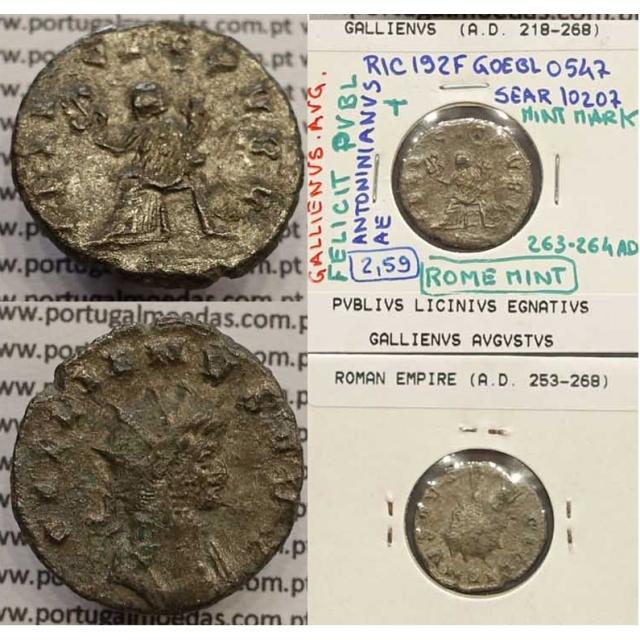 GALLIENUS - ANTONINIANO - GALLIENVS AVG / FELICIT PVBL (263-264 d.C) (253 d.C A 268 d.C