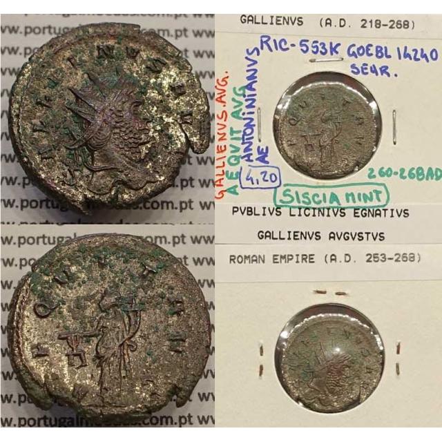 GALLIENUS - ANTONINIANO - GALLIENVS AVG / AEQVIT AVG (260-268 d.C) (253 d.C A 268 d.C )
