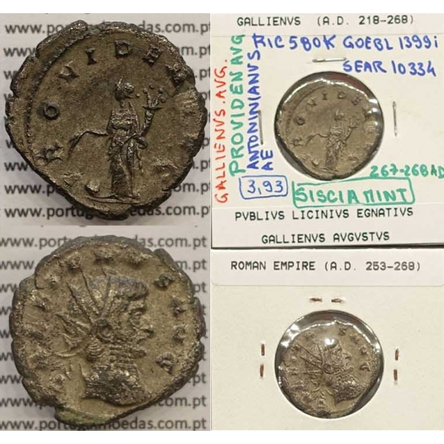 GALLIENUS - ANTONINIANO - GALLIENVS AVG / PROVIDEN AVG (267-268 d.C) (253 d.C A 268 d.C