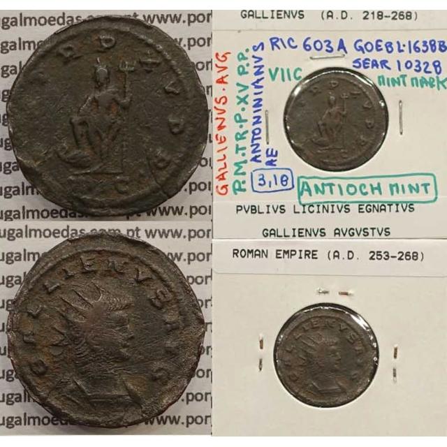 GALLIENUS - ANTONINIANO - GALLIENVS AVG / PM TR P XV PP (264-266 d.C) (253 d.C A 268 d.C