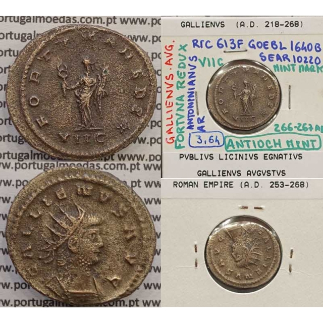 GALLIENUS - ANTONINIANO - GALLIENVS AVG / FORTVNA REDVX (266-267 d.C) (253 d.C A 268 d.C