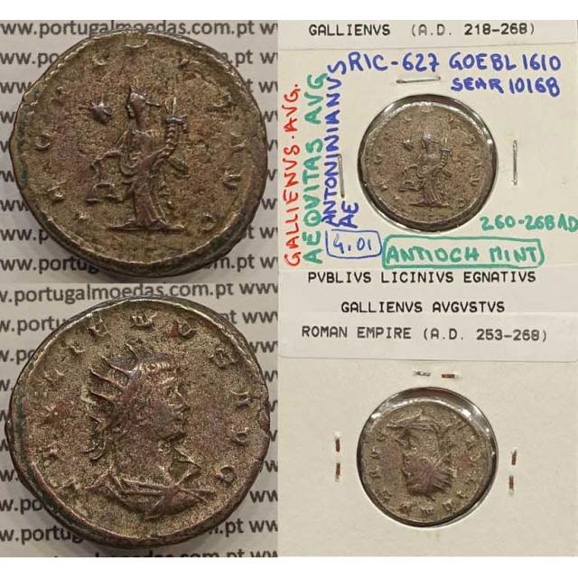 GALLIENUS - ANTONINIANO - GALLIENVS AVG / AEQVITAS AVG (260-268 d.C) (253 d.C A 268 d.C