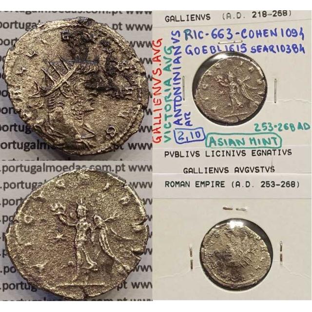 GALLIENUS - ANTONINIANO - GALLIENVS AVG / VICTORIA AVG (253-268 d.C) (253 d.C A 268 d.C )