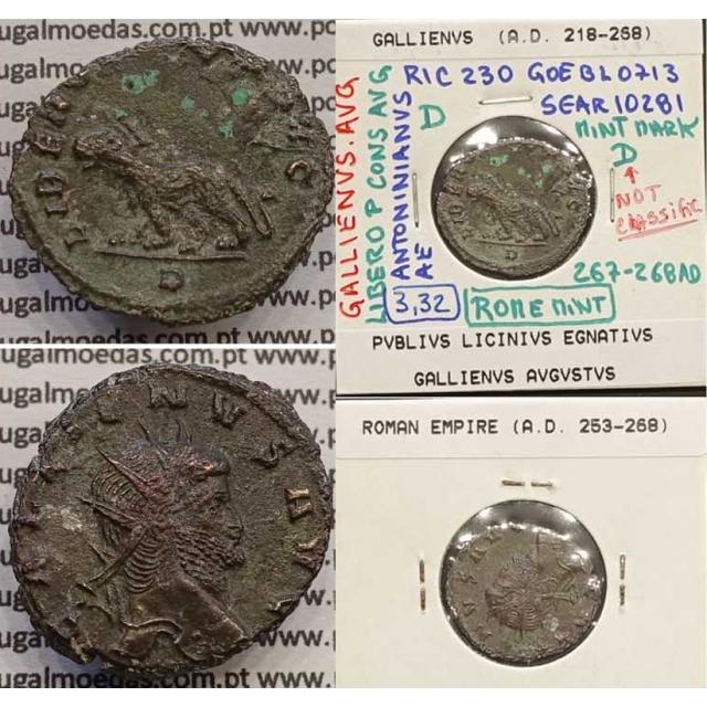 GALLIENUS - ANTONINIANO - GALLIENVS AVG / LIBERO P CONS AVG (267-268 d.C) (253 d.C A 268 d.C