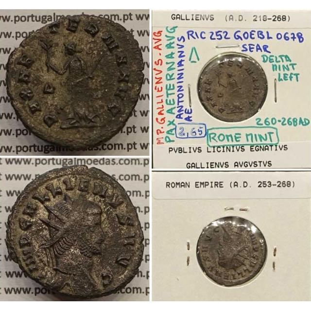 GALLIENUS - ANTONINIANO - IMP GALLIENVS AVG / PAX AETERNA AVG (260-268 d.C) (253 d.C A 268 d.C