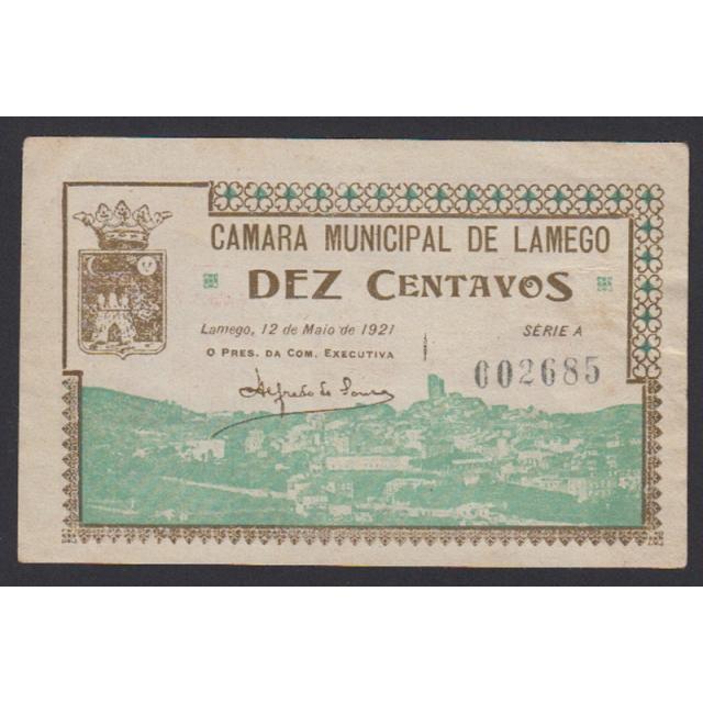 CÉDULA CÂMARA MUNICIPAL DE LAMEGO - VALE 10 CENTAVOS (NÃO CIRCULADA)