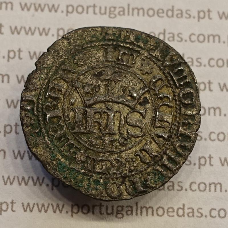 MOEDA REAL DE DEZ SOLDOS BOLHÃO - D. JOÃO I (1385-1433) COM SINAL OCULTO À ESQUERDA.