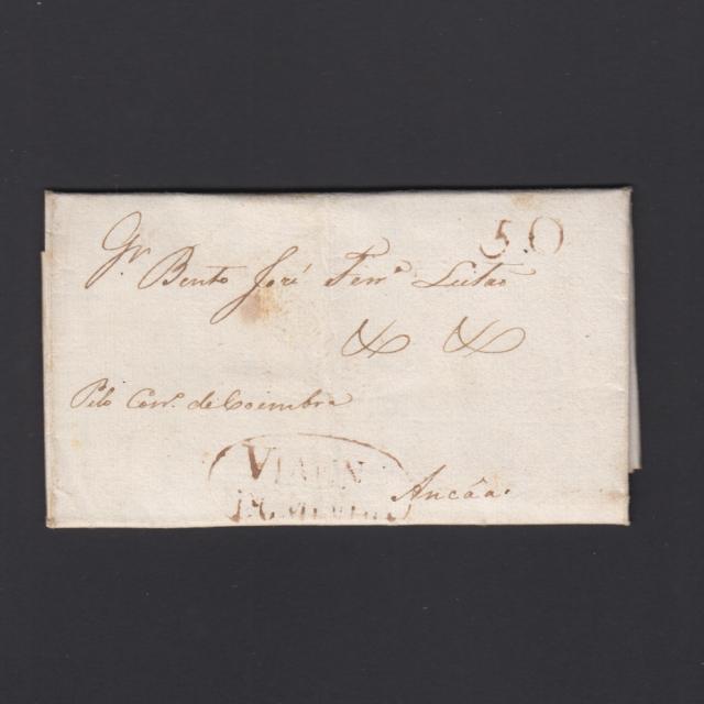 Pré-Filatélica circulada de Viana do Minho para Ançã datada 04-08-1817