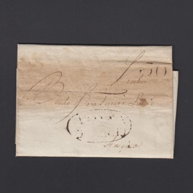 Pré-Filatélica circulada de Viana do Minho para Ançã datada 15-04-1821