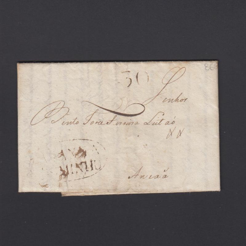 Pré-Filatélica circulada de Viana do Minho para Ançã datada 18-06-1821