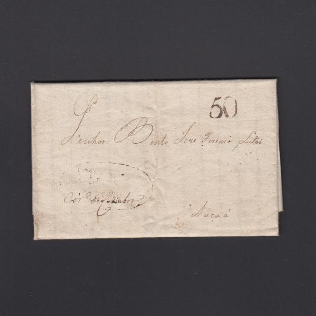 Pré-Filatélica circulada de Viana do Minho para Ançã datada 30-08-1824
