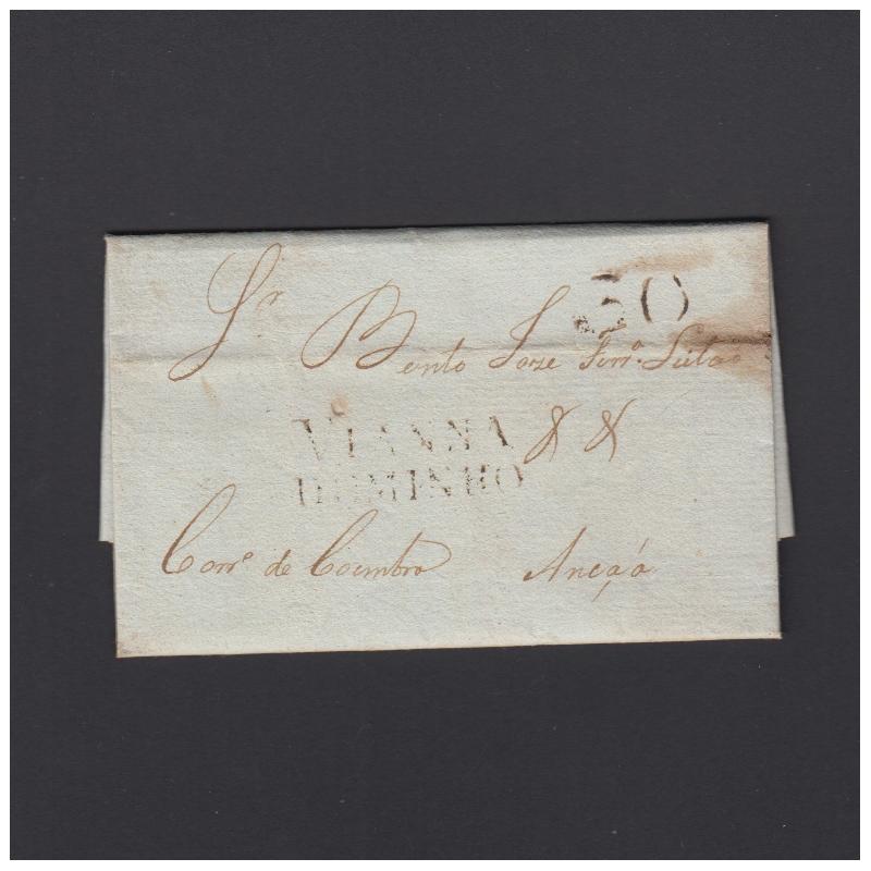 Pré-Filatélica circulada de Viana do Minho para Ançã datada 18-04-1827