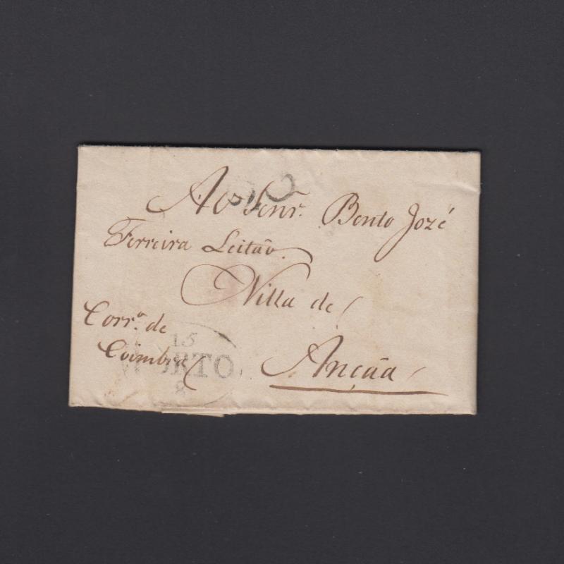 Pré-Filatélica circulada do Porto para Ançã datada 22-07-1823