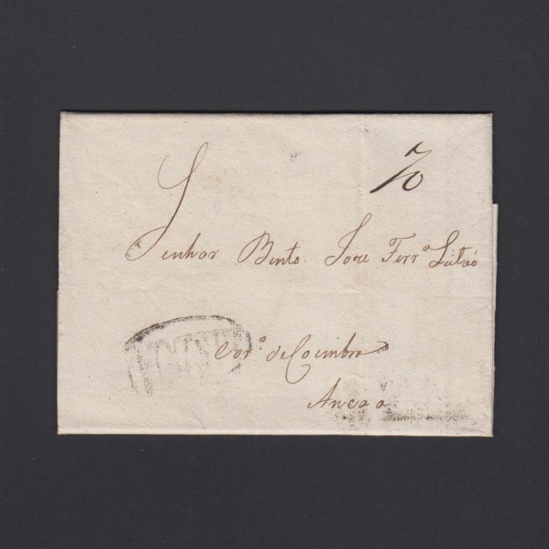 Pré-Filatélica circulada do Porto para Ançã datada 07-05-1824