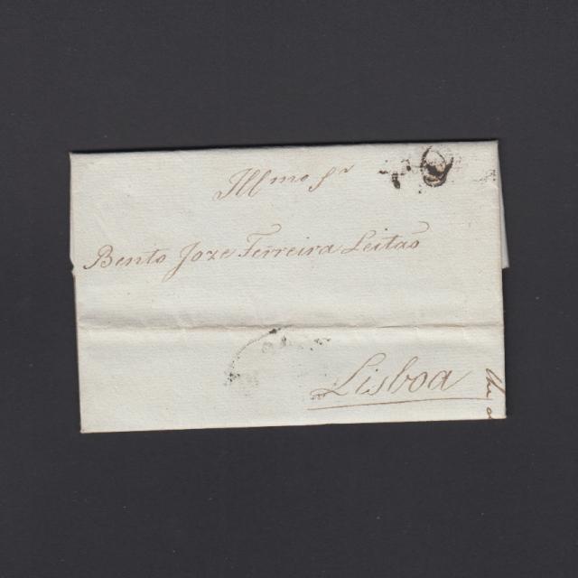 Pré-Filatélica circulada do Porto para Lisboa datada 23-06-1825