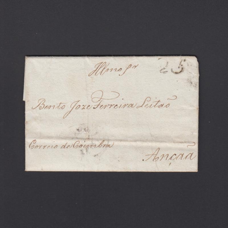 Pré-Filatélica circulada do Porto para Ançã datada 14-11-1826