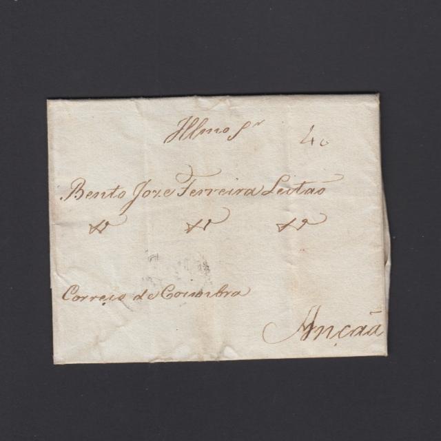 Pré-Filatélica circulada do Porto para Ançã datada 07-05-1827