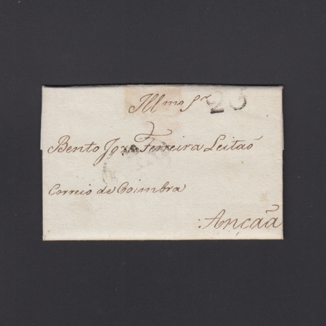 Pré-Filatélica circulada do Porto para Ançã datada 13-07-1827