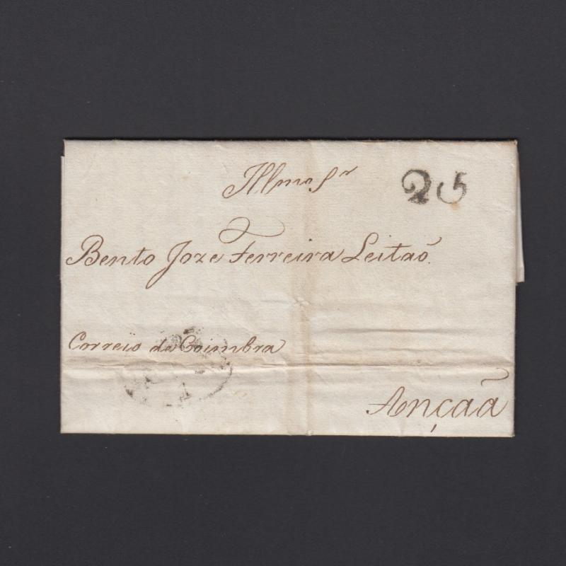 Pré-Filatélica circulada do Porto para Ançã datada 12-01-1827