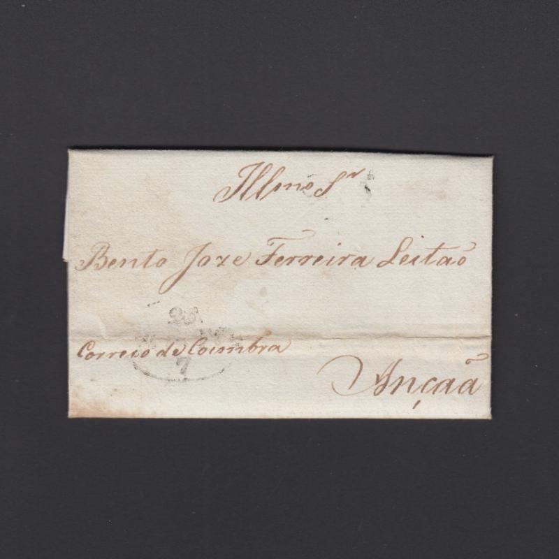 Pré-Filatélica circulada do Porto para Ançã datada 26-07-1827