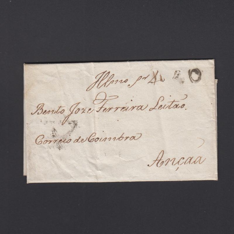 Pré-Filatélica circulada do Porto para Ançã datada 11-04-1828