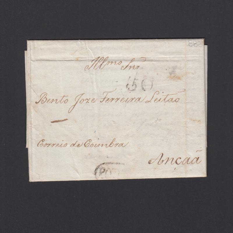 Pré-Filatélica circulada do Porto para Ançã datada 26-06-1830