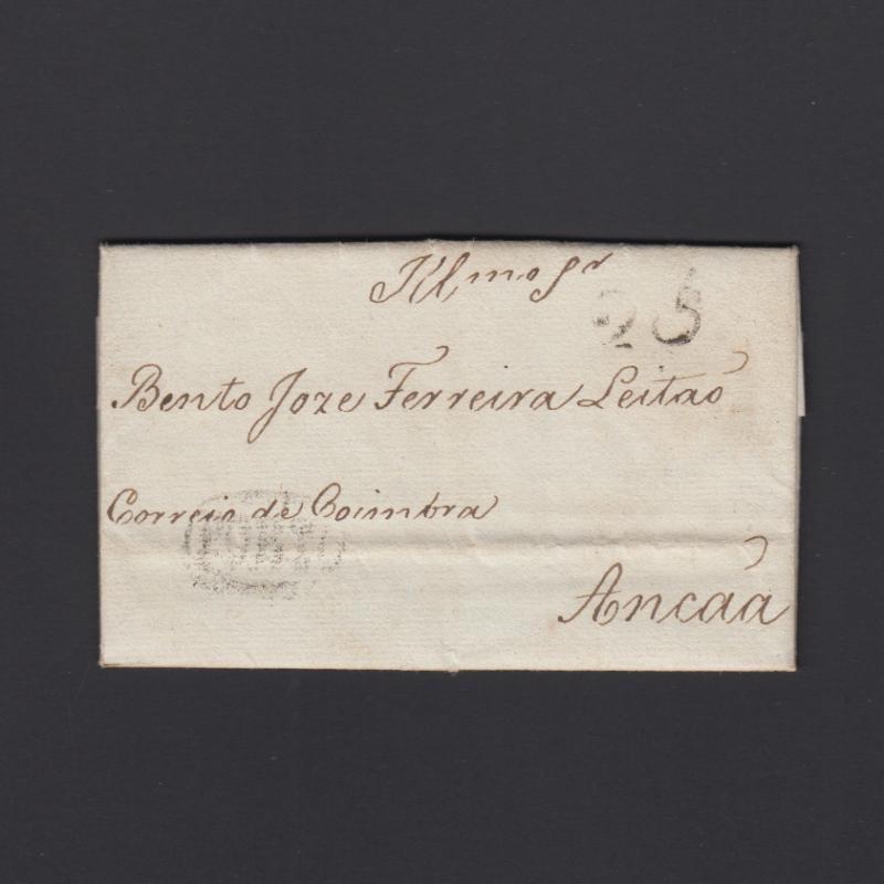 Pré-Filatélica circulada do Porto para Ançã datada 20-08-1830