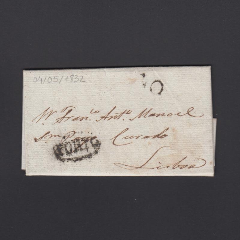 Pré-Filatélica circulada do Porto para Lisboa datada 04-05-1832